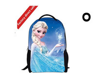 Wholesale Children create snow and ice frozen dairy queen backpack vacuum bag bag of primary and middle school students