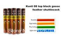 Wholesale Hot Sell Kunli badminton Shuttlecock Top black goose feather shuttlecock best flying sporting goods free EMS