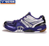 Wholesale Fast Delivery Arrived Within Days Pair Original Victor SH8500J Blue Badminton Shoes Light Ventilate Antiskid Sneaker