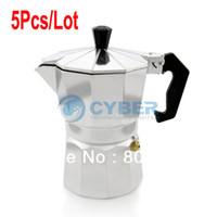 Wholesale 5Pcs New Stove Top CUPS Continental Aluminum Coffee Maker Coffee Pot Machine Percolator TK0961
