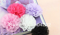 Wholesale 40pcs large Chiffon handmade Flowers Fabric rose rolled Rosette assorted colors mm quot