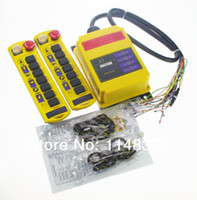 Cheap 10 Voltages For Choose 7 Channels 1 Speed 2 Transmitters Control Hoist Crane Remote Controller System CE Proved