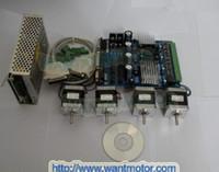Cheap Wantai CNC riuter 4 aixs Nema 17 stepper motor 42BYGHW811 70oz-in& Driver board & Power CE & ISO Certified!!! 2013 hot selling!!