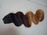 Cheap Hot sale #1b 4 27 ombre color three tone color malaysian human hair weave 4pcs lot free shipping virgin remy body wave weft