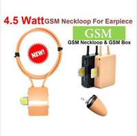 Wholesale 4 Watt Powerful GSM Box Neckloop with Black Megntic micro Invisible Earpiece