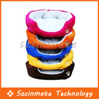 Wholesale Colorful Pet Cat and Dog bed Rose Red Orange Blue Brown Yellow Size M