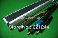 Wholesale Handmade Limited Edition Myanmar Black Ebony Butt Ash Shaft Snooker Cue With Free Case Extension Mini Butt