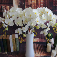 Wholesale Artificial Silk Flowers Shipping by EMS Single Long Phalaenopsis Butterfly Moth Orchid Wedding Decoration
