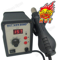 Cheap 1pc tvc wholesale black Hot Sell Best 858D+ Rework Desoldering Station Hot Air Tool dhl free shipping