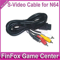Wholesale 100pcs a S Video AV Cable for Nintendo N64 for GameCube NGC