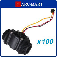 Wholesale 100pcs Hall Effect G quot Water Flow Frequency Counter Sensor ROHS Standard ST106