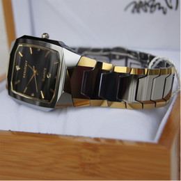 Wholesale men BOY CLASSIC FACET sapphire crystal hi tech heavy tone gold plating tungsten watch