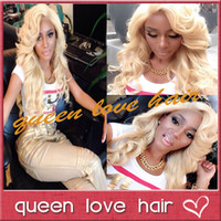 """Cheap Top quality and cheap!Unprocessed brazilian human hair blonde full lace wig body wave color #613 glueless wigs 12""""-26"""" in stock"""