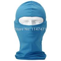 Wholesale 50XMotorcycle Cycling Ski Neck protecting Balaclava Full Face Neck Guard Skullies Headgear Mask Protection Luminous Skeleton Cap