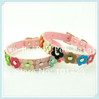 beautiful berry - New Arrival Berry Flowering PU Leather Beautiful Dog Cat Pet Collars