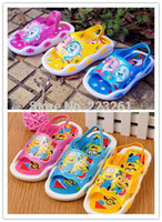 Wholesale 2014 New style children s summer sandals pvc shoes kid s sandals boys girls unsex cartoon sandals slippers sound