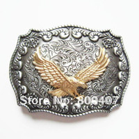 western belt buckles - Retail Belt Buckle Western Flying Eagle Rodeo Double Color Cowboy Factory Direct Fast Delivery