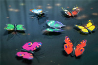 Wholesale 100pcs cm Artificial Butterfly Decorations Magnets pins Craft Fridge Room Wall Decor Wedding decoration