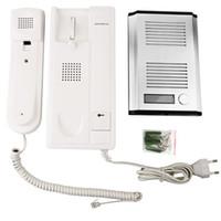 Wholesale New Audio door phone Intercom ZDL B Doorbell Set villa intercom access non visual intercom Unlock Only V F4202B