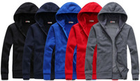 Cheap Wholesale-2013 Autumn and Winter Mens Hoodies Sweatshirts Lovers Casual Sport Hoodies Jacket Men's Cardigan Overcoat 5color