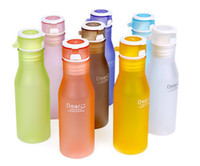 Wholesale rubber paint colorful glass soda bottles tasteless unbreakable plastic cups A bag matte100pc can be Printed LOGO