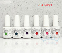 Cheap 12 PCS LOT 204 colors Gelish Polish LED UV Nail Gel polish Nail art Soak off Shellac CND
