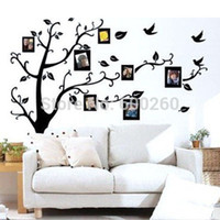 Wholesale 1PC Family Tree Wall Decal Remove Wall Stick Photo Tree Wall Stickers Memory Tree Photo Frame New Vinyl Wall Decals