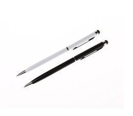 Wholesale US Stock Capacitive in Stylus Touch Pen Ball Point Pens For Tablet PC Touch Screen Colors Black White Blue Pink