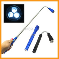 Wholesale Newest Portable Multi functional LED Flashlight cm Extendable Torch with Magnetic Head Pick Up Tool