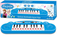 Wholesale High Quality Frozen princess Anna Elsa Girls toys Children electronic organ Electronic keyboard cartoon Electone with music Song