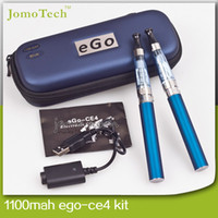 Cheap Ego Ce4 Starter Kits Ego Ce4 Double Kits in Zipper Carrying Case Ce4 Atomizer 1100mah Ego-T Battery Electronic Cigarette E Cig Double Kits