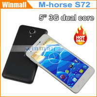 Wholesale China Cheap G Smartphone Inch M horese S72 MTK6572 dual core Dual SIM Android Cell Phone WCDMA unlocked Mobile Free flip cover case