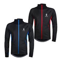 Wholesale New Soft Comfortable High Permeability Waterproof Breathable Men Cycling Long Sleeved Fleece Jackets Windbreaker WolfBike BC216 W1046