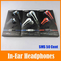 Wholesale SMS by Cent Stereo Wired In Ear Earphone Headphones For iPhone Plus Galaxy Note4 iPad iPod MP3 MP4 Cheap Universal Headphone Headset