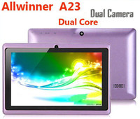 capacitive tablets - 8GB ROM Q88 inch tab Allwinner A23 Tablet PC Android Dual Core Dual Camera Capacitive Screen Bluetooth Wifi DHL