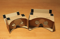 Wholesale up New DIY Google Cardboard Virtual Reality Mobile Phone Gglasses for d Glasses High Quality