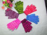 Wholesale touch screen gloves autum fall season rainboe colorful gloves telefingers gloves