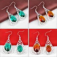 Free Shipping- - 2prs Mix Color LUCKY Shine Green Amethyst Pra...