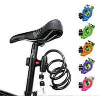Wholesale meter bicycle bike cable key lock Bicycle motorcycle chain Lock mountain road Bike Cycling tool Steel cable Chain lock