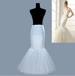 Falda de crinolina sirena en Línea-Sirena accesorio de novia 2 Hoop nupcial enagua Slip vestidos de novia Crinolina Rock and Roll falda de las faldas para el vestido de desfile de la boda