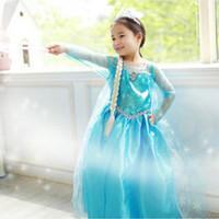 Wholesale Frozen Girls Dresses Elsa Anna Fall Dress Girls Party Dress Anna Princess Costumes Baby Girls Elsa Dress Frozen Elsa Anna Dress