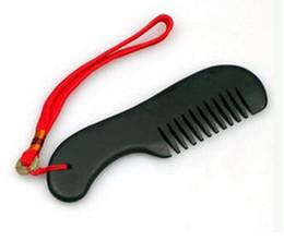 Wholesale Black Bian Stone Massage Guasha comb Natural Bian stone health care Healthcare