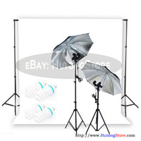 Wholesale Tracking Studio Light W Continuous Lighting Kit w background support system m Retail AKT087