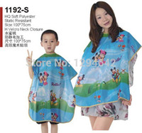 Wholesale pc Kids Hairdressing Cape Hair Cutting Styling Cape Beauty Salon Barber Nylon Gown Cloth for Children Styles