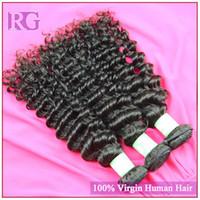 indian hair wholesale - Indian Virgin hair deep wave unprocessed hair soft indian human hair grade A