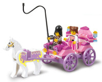Wholesale M38 B0239 D Diy set eductional plastic Building Block Sets Girl Dream Princess Carriage children toys