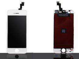 2017 marcos libres Pantalla completa del digitizador del tacto de la exhibición del LCD con el reemplazo completo de la asamblea del capítulo para el envío libre blanco negro del iPhone 5 5G marcos libres promoción