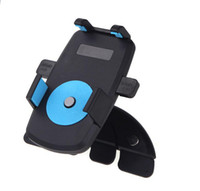 Wholesale Universal Car Bracket CD Slot Vehicle Mount Stand Bracket Holder For iPhone MP3 MP4 Cell Phone GPS Degree Rotatable K1267 DHL Free