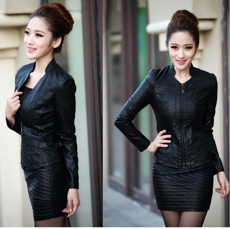 2017 2014 Autumn Genuine Leather Jackets Women'S Slim Sheepskin ...