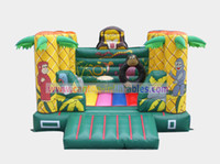 Wholesale Hot Selling mm PVC tarpaulin L W Monkey Inflatable Bouncers Jumping Castles Blower